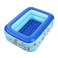 Bể bơi 2 tầng hình chữ nhật 1,2m cho bé