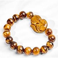 Vòng Tay Hồ Ly Đá Opal Mắt Hổ Nâu Vàng