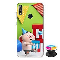 Ốp lưng điện thoại Asus Zenfone Max Pro M2 hình Heo Con Tặng Quà tặng kèm giá đỡ điện thoại iCase xinh xắn - Hàng chính hãng