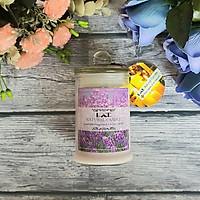 Nến thơm lọ thủy tinh oải hương không khói Ecolife - Aroma Candles Lavender Jar
