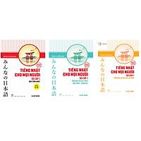 Combo 3 cuốn Sách Tiếng Nhật Cho Mọi Người: Tổng hợp các bài tập chủ điểm + Bản dịch và giải thích ngữ pháp - tiếng việt + Bản Tiếng Nhật + Tặng sổ tay VDT