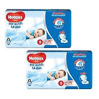 2 Gói Tã Dán Sơ Sinh Huggies Dry Newborn S56 (56 Miếng)