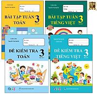 Sách - Combo Bài Tập Tuần và Đề Kiểm Tra lớp 3 - Toán và Tiếng Việt học kì 1 (4 cuốn)