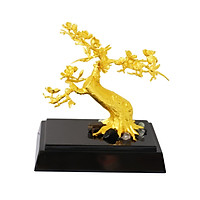 Cây Hoa Đào bonsai mạ vàng - Quà tặng Cành Hoa Đào Tết mạ vàng độc đáo