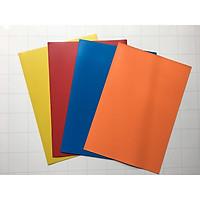 Combo 4 tấm nam châm dẻo phủ màu nhựa bóng, đa màu sắc (lựa màu trong phân loại)