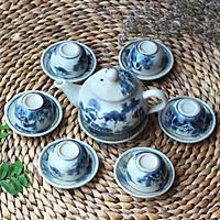 Bình trà men rạn (ấm trà cổ) nhỏ MNV-TS160-1