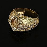 Combo Nhẫn Vương Miện, Hợp Nam Nữ Phong Phong cách Hoàng Gia Châu Âu, chất liệu hợp kim mạ vàng 7.999k, đính 46 viên đá,  Kèm túi đựng Cung Hỷ
