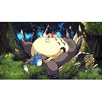 Poster A3 dán tường Anime, decal 30x42 trang trí có keo My Neighbor Totoro Wallpapers 2