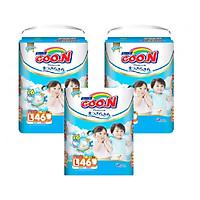 Combo 3 bịch tã quần Goo.n Premium L46 miếng