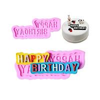 khuôn silicon làm bánh chữ Happy birthday
