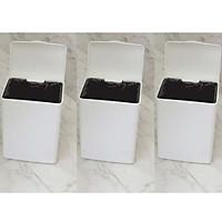 Bộ 3 thùng rác nhựa size nhỏ vành kẹp túi thông minh - Hàng nội địa Nhật