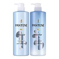 Combo Gội Xả Pantene Pro-V Micellar Làm Sạch Sâu Chiết xuất Tảo biển 530 ml