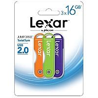 Combo 3 x USB Lexar JumpDrive Twist Turn 16GB ( Nhiều màu) - USB 2.0 - Hàng nhập khẩu