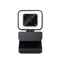 Webcam Góc rộng Tự động lấy nét Điều chỉnh độ sáng 3 cấp độ Camera Web USB Tích hợp Micrô giảm tiếng ồn 2K USB