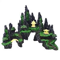 Mô hình hòn non bộ núi đá hang động cây cỏ 3 - Phụ kiện bể cá