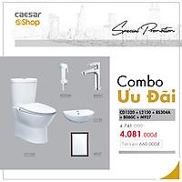 Combo sản phẩm bàn cầu+lavabo+vòi xịt+vòi lavabo lạnh+gương -CD1320+L2150+BS304A+B060C+M927