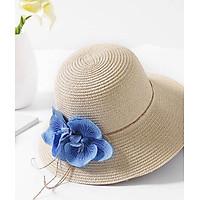 Nón du lịch nữ đi biển vành nhỏ nơ hoa lan HQC4108