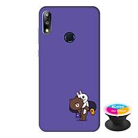 Ốp lưng điện thoại Asus Zenfone Max Pro M2 hình Gấu và Thỏ tặng kèm giá đỡ điện thoại iCase xinh xắn - Hàng chính hãng