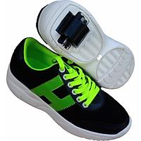 Giày bánh gót An Phát ( 011-01 Đen - Xanh Lá)