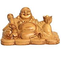 Tượng Phật di lặc gỗ huyết long Oli Wood