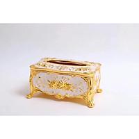 Hộp giấy ăn mạ vàng ( nhiều hoa văn)