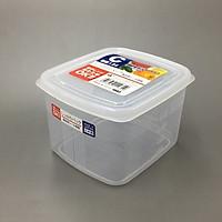 Hộp nhựa cao cấp bảo quản thực phẩm hình vuông 1,2L - Hàng nội địa Nhật
