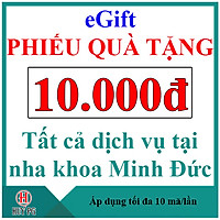 NK Minh Đức Phiếu quà tặng 10.000đ
