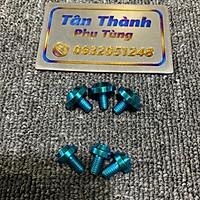 Ốc Titan GR5 6x10 dành cho các loại xe xanh tím, lục bảo đầu dù, đầu trụ