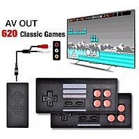 Bộ điều khiển trò chơi điện tử 4 nút máy chơi game cầm tay không dây mini tích hợp 620 trò chơi 8 bit đầu ra AV -4429