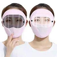 Khẩu trang mặt nạ ninja có kính chống nắng vải thun lạnh thoáng mát hè 2021