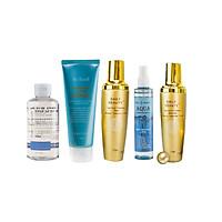 Combo 5 sản phẩm tốt cho da dầu gồm Nước tẩy trang, Sữa rửa mặt, Nước hoa hồng, Xịt khoáng, Sữa dưỡng Daily Beauty Re:Excell