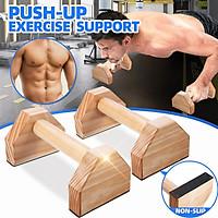 Wooden Parallettes Gymnastics Yoga Crossfit Pushup Bar Handstand Bar 1 Pair