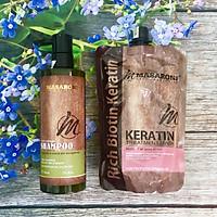 Combo gội ủ Collagen Keratin MASARONI siêu mượt cho tóc khô hư tổn 500ml