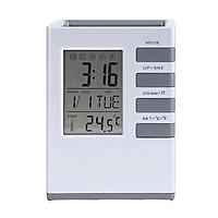 Đồng hồ báo thức,đo nhiệt độ kiêm giá đựng bút để bàn thông minh