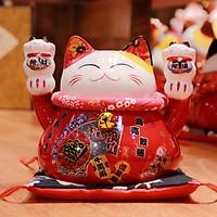 Mèo Thần tài Đỏ 15cm Mã 2
