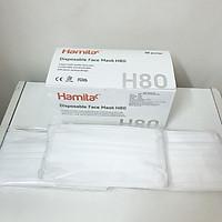 Khẩu trang y tế Hamita 3 lớp (Hộp 50 cái) Hàng xuất khẩu - ISO13485, CE, FDA - Model H80