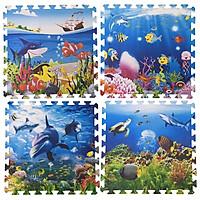 Bộ 4 tấm Thảm xốp lót sàn an toàn Thoại Tân Thành hình sinh vật dưới biển (60x60cm)