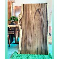 Mặt bàn gỗ me tây nguyên tấm KT 4x70x125cm