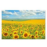 Tranh treo tường hoa hướng dương LunaCV-0469 KT 60 x 40 cm