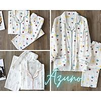 Pyjama bầu và sau sinh Azuno AZ0170 Chất Liệu Xô Đũi Mặc Hè Cực Mát