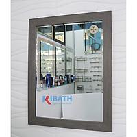Gương soi Kibath khung viền màu xám KT 55x70 cm