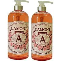 Combo 2 Sữa Tắm L'amont En Provence Cherry Blossom (Hoa Anh Đào) Shower Gel 1000ml