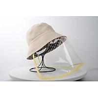 Mũ thời trang có màn che chống nước bọt