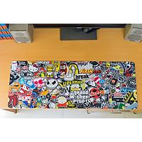 Lót chuột, bàn di chuột, mousepad (nhiều mẫu đẹp) kích thước 80x30x0.3 cm