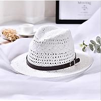 Mũ Phớt Fedora Nam Nữ Vành Rộng Mugout MC13 - Nón Phớt Đi Biến Vintage Chất Liệu Cói   Mũ Chất