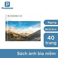 """[E-voucher] In album ảnh theo yêu cầu bìa mềm 40 trang 11"""" x 8.5"""" (28 x 21.5cm) - Thiết kế trên web Photobook"""