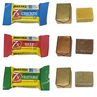 Hạt nêm Massel Stock Cubes hương vị Gà , Bò và Rau dạng viên nén tiện dụng (2 viên/gói)