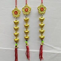 dây treo trang trí tết hoa mai và đồng tiền A3