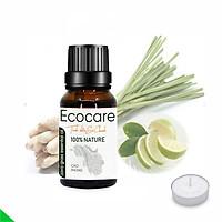Tinh Dầu Sả Chanh EcoCare 10ml - Tặng nến xông tinh dầu