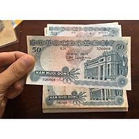 Tờ 50 đồng hoa văn Việt Nam, tiền cổ sưu tầm